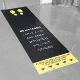 Social Distancing Sticker - Vinyl 250 x 350mm Social Distancing Floor Sticker - Vinyl 600 x 2000mm