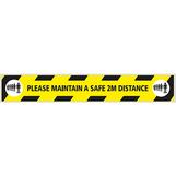Social Distancing Floor Sticker - Anti Slip Self Adhesive 150 x 1000mm