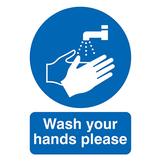 Wash Your Hands Rigid PVC Sign A3 420 x 297mm
