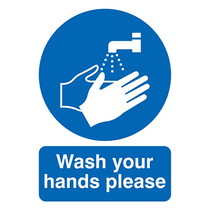 Wash Your Hands Rigid PVC Sign A3 420 x 297mm