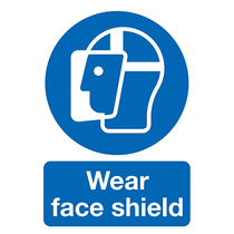 Wear Face Shield Rigid PVC Sign A3 420 x 297mm