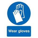 Wear Gloves Rigid PVC Sign A3 420 x 297mm