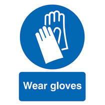 Wear Gloves Rigid PVC Sign A3 420 x 297mm
